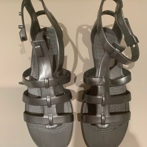 Marc by Marc Jacobs Silver Jelly Sandal